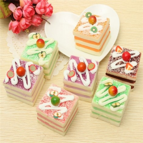 5CM Random Squishy Simulation Cup Cake Bread Fridge Magnet Decoration Random Color
