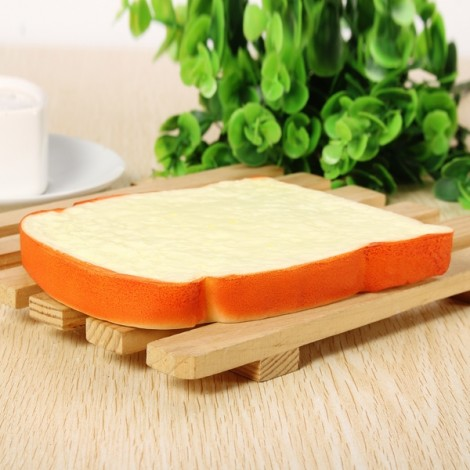 Squishy Simulation Bread Slices of Toast Fun Toy Decoration Orange & Yellow
