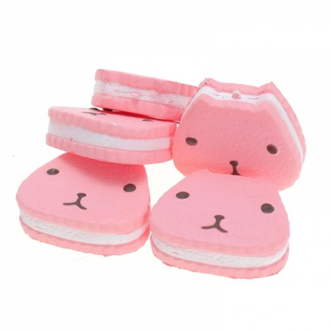 9.5CM Squishy Toy Cartoon Capybara Cake Soft Emulational Bread Phone Bag Keychain Strap Pink