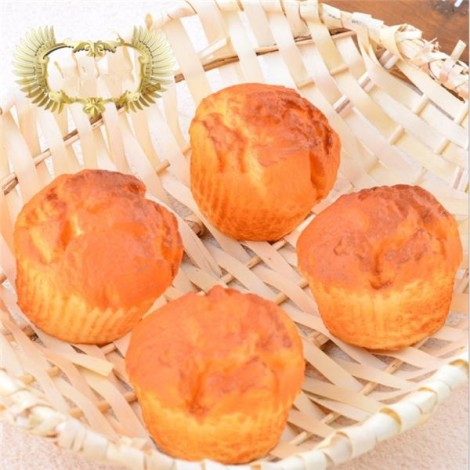 8CM Squishy Simulation Puff Bread Slow Rising Squishy Fun Toys Decoration Orange