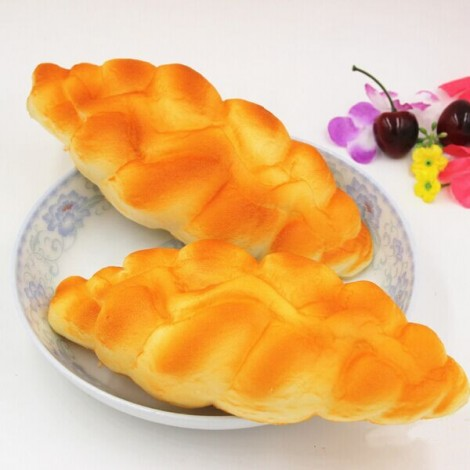 1Pc Kawaii Squishy Simulation Bread Fun Toys Soft Decoration Yellow