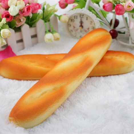 Squishy Simulation Long Strips Bread Slow Rising Squishy Fun Toy Orange