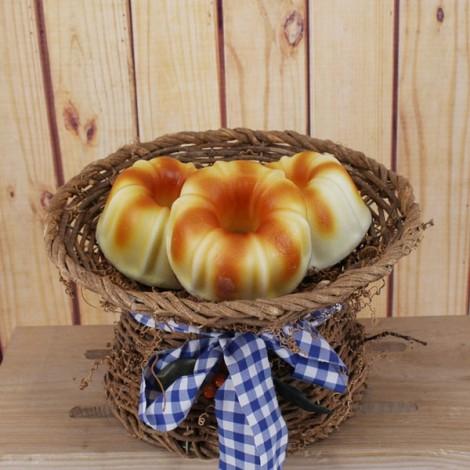 Squishy Slow Rebound High Simulation of Donuts Bread Orange
