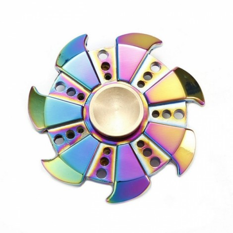 Colorful EDC Hand Spinner Finger Spinner Fidget Gadget Focus Reduce Stress Gadget Dazzle Color Windmills Style