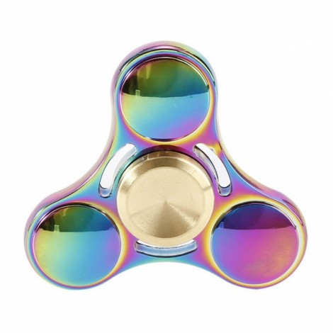 Colorful EDC Hand Spinner Finger Spinner Fidget Gadget Focus Reduce Stress Gadget Dazzle Color Three Leaves Style