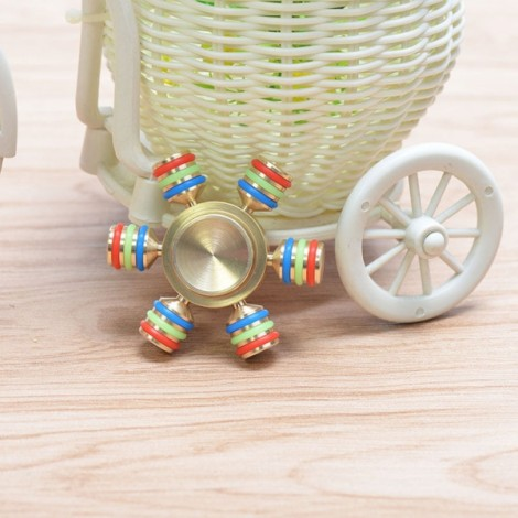 Hand Spinner Toys Brass EDC Spin Time Performance Bearing for Anti Stress And Anxiety Release Adult Random Color