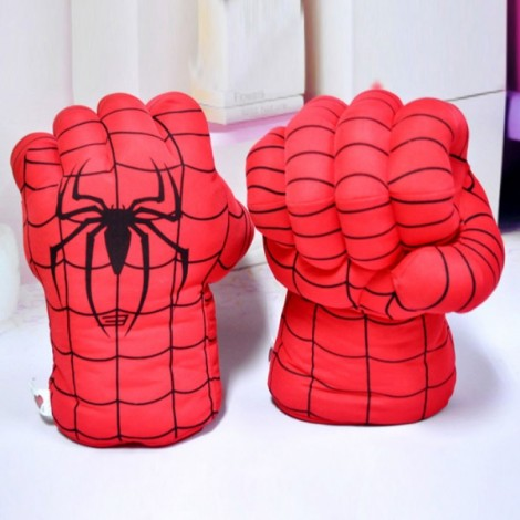 Creative Fun Toy Spider Man Plush Gloves Performing Props Personalized Gift Red