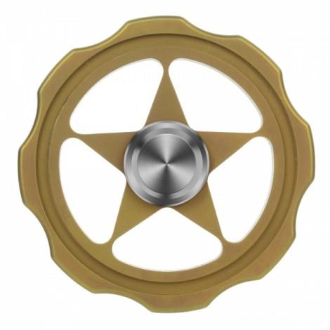 "FURA TC4 Titanium Alloy Fidget Spinner ""Circular"" Pattern Fingertip Golden"