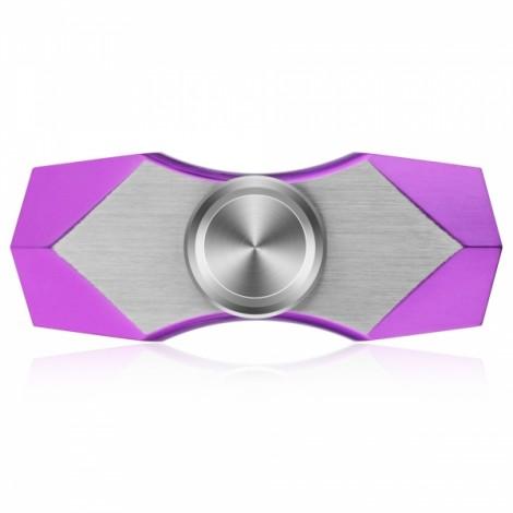 FURA TC4 Titanium Alloy Two-tone Fidget Spinner Polygon Pattern Fingertip Purple