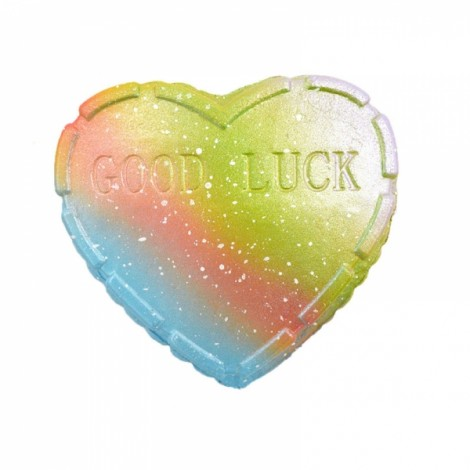 Kiibru Squishy Rainbow Good Luck Cake Love Heart Slow Rising With Packaging Collection Gift Decor