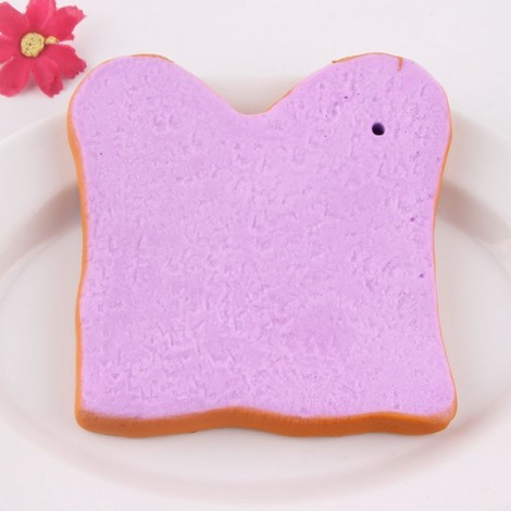 SanQi Elan Squishy Jumbo Toast Slice Piece Bread Slow Rising With Packaging Collection Gift Decor - Purple