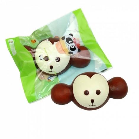 Squishy Fun Super Slow Rising 18x10CM Monkey Original Packaging Squeeze Toys Fun Gift - Coffee