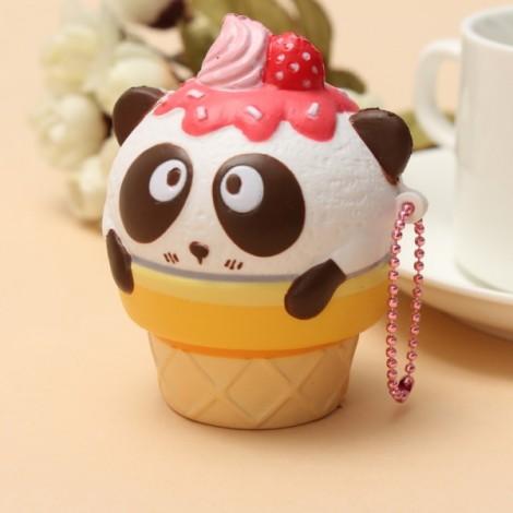 Squishy Fun Cute Panda Cream Super Slow Rising Squishy Original Packing Ball Chain Kid Toy