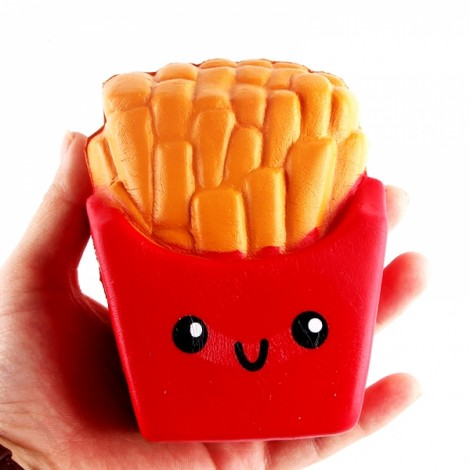 Squishy French Fries Chips Cream Scented Squeeze Slow Rising Gift Decor Toy - Red