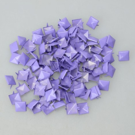 100Pcs 12MM Pyramid Studs Spike Rivet Nailhead Spots Leathercraf DIY Fluorescein Purple