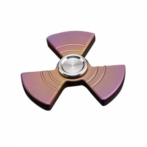 Rotary Triangle Hand Spinner Titanium Alloy Fingertips Multi-functional Decompression Toy Style A