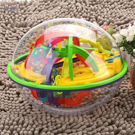 208-Level 3D Magic Maze Ball Intellect Ball Children's Educational Toy Orbit Game
