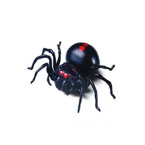 Cute Sunlight DIY Salt Water Powered Spider Educational Kit Game Toy Black