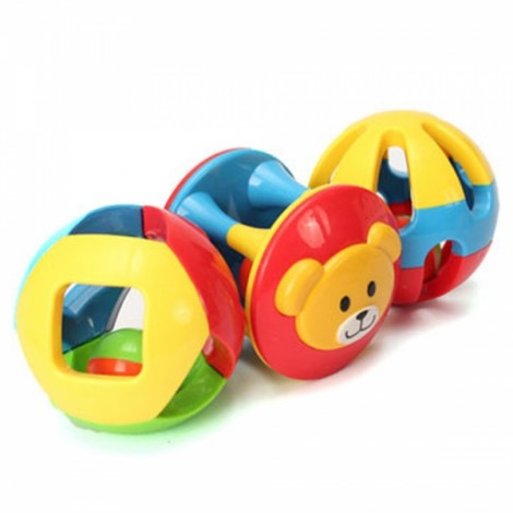 3pcs Colorful Jingle Ball Cute Bear Pattern Kids Toy Gift