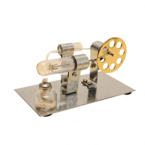 DIY Hot Air Engine Model Educational Toy Kits Golden (No Electricity)