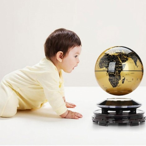 Magnetic Levitation Floating Globe World Map 6 inch Amazing Office House Decor Gift Educational Toy US Plug Golden