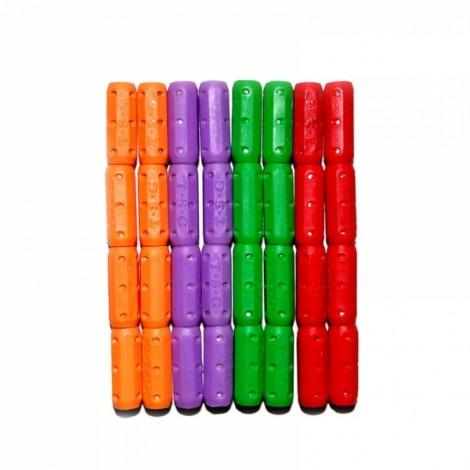 12pcs Magnetic Short Stick Children Educational Toy Assembly Part Random Color