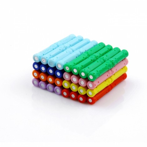 12pcs Children Educational Magnetic Toy Assembly Part Straight Magnetic Rod Sticks Random Color