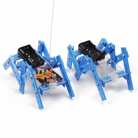 DIY Remote Control Quadruped Robot Assembling Model Toy Robot Smart Car Kit