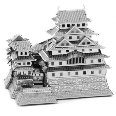 Fantastic Himeji Castle Model No-glue Metallic Steel Nano 3D Puzzle DIY Jigsaw Silver
