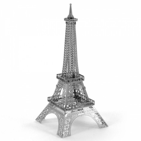 Fantastic Eiffel Tower Model No-glue Metallic Steel Nano 3D Puzzle DIY Jigsaw Silver
