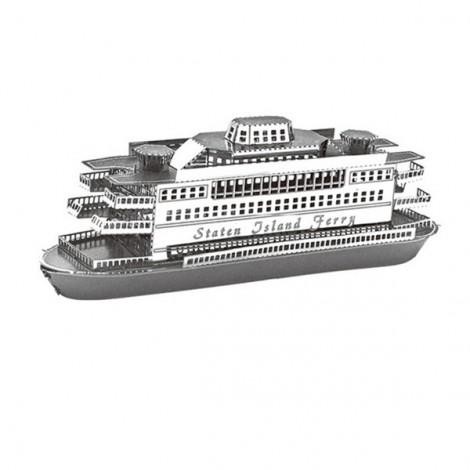 Metallic Steel Nano 3D Puzzle DIY Jigsaw No Glue Staten Island Ferry Silver