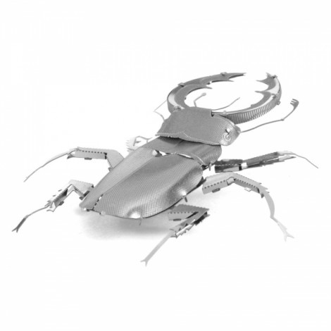 Metal Stainless Steel DIY Assembly Model 3D Nano Three-dimensional Jigsaw Puzzle Stag Beetle