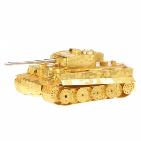 Metal Stainless Steel DIY Assembly Model 3D Nano Tiger Tank Brass Plate Silver