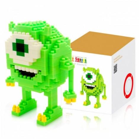 LOZ 180pcs M-9162 Anime Monsters University Mike Building Block Educational Toy Green & White & Yellow