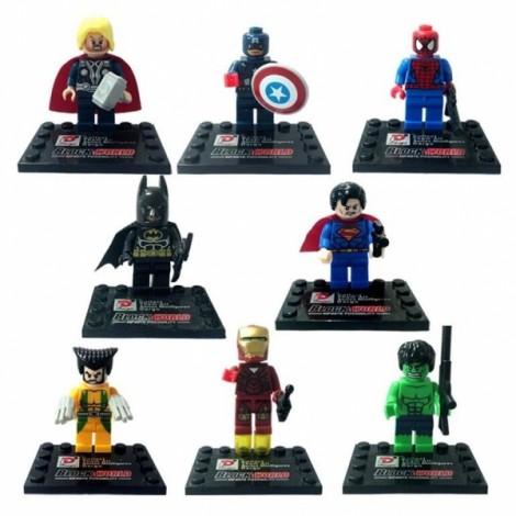 Super Hero Style Mini Figure Assemble Puzzle Toys Intelligent Gift