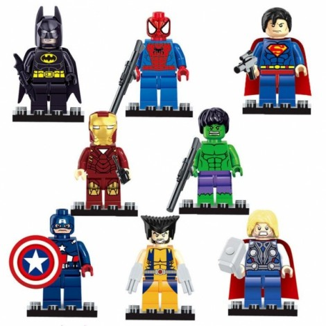Dargo Super Hero Style Mini Figure Assemble Puzzle Toys Intelligent Gift