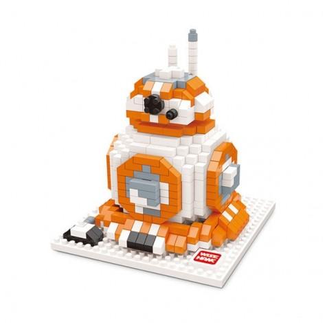 Star Wars Minifigure Building Blocks Diamond Blocks Yoda bb8 R2-D2 Action Figure Miniature Model Brick Block 2406 Colorful