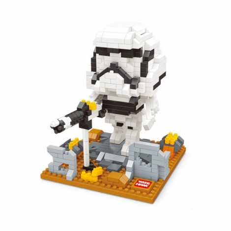 Star Wars Minifigure Building Blocks Diamond Blocks Yoda bb8 R2-D2 Action Figure Miniature Model Brick Block 2405 Colorful