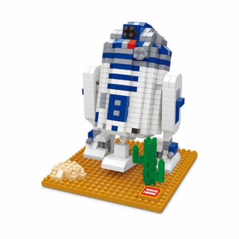 Star Wars Minifigure Building Blocks Diamond Blocks Yoda bb8 R2-D2 Action Figure Miniature Model Brick Block 2407 Colorful
