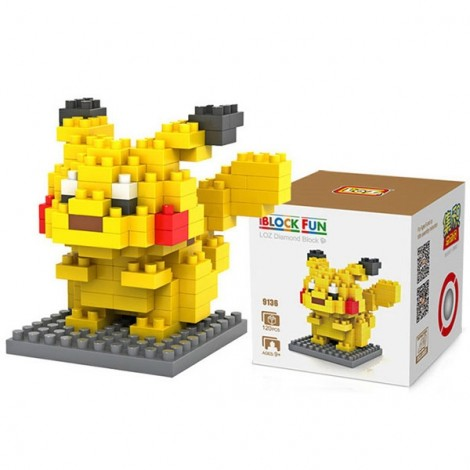 Pokemon Pikachu Building Block Educational Toy for Cooperation Ability Yellow