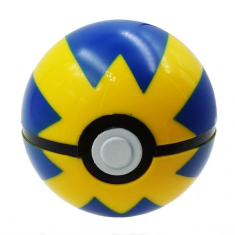 7cm Pokemon Ball Anime Action Figure Collection Toy Cosplay Prop Fast Ball Style Blue & Yellow