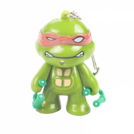 LED Lighting Sound Cartoon Turtle Key Chain Orange Michelangelo