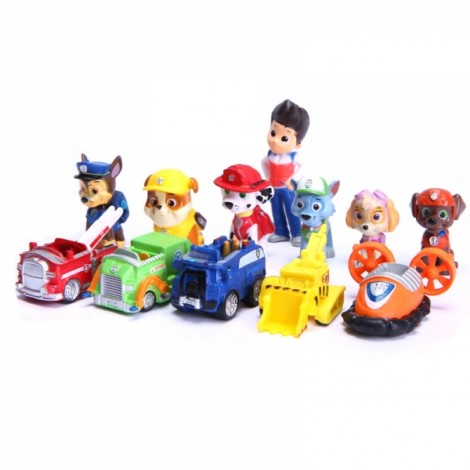 12pcs Puppy Dog Toy Children Anime Action Figure Toy Mini Model Toys Multicolor