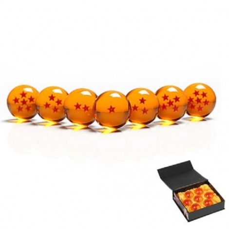 Dragon Ball 4cm 7-Star Crystal Ball Set Collection Toy