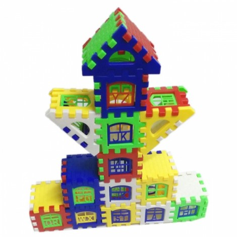 24pcs Baby Bricks House Building Blocks Construction Toy Kids Brain Game Learning Educational Toys