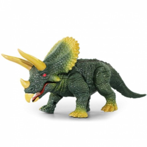 Wireless Remote Control Toys RC Electric Triceratops Models Green