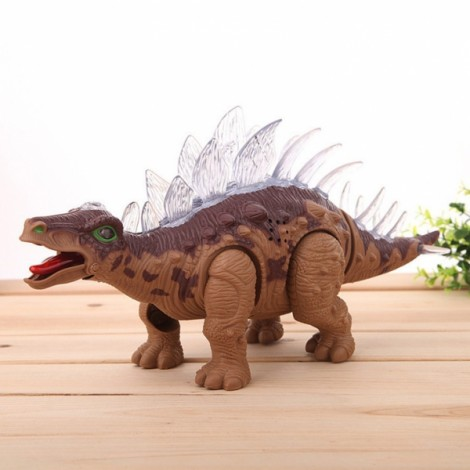 36CM Jurassic World Electric Stegosaurus Simulation Model Toy Dark Brown