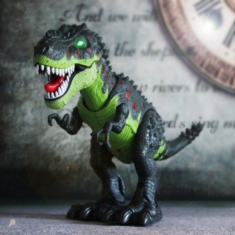 Electric Realistic Tyrannosaurus Remote Control Big Model Toy Green