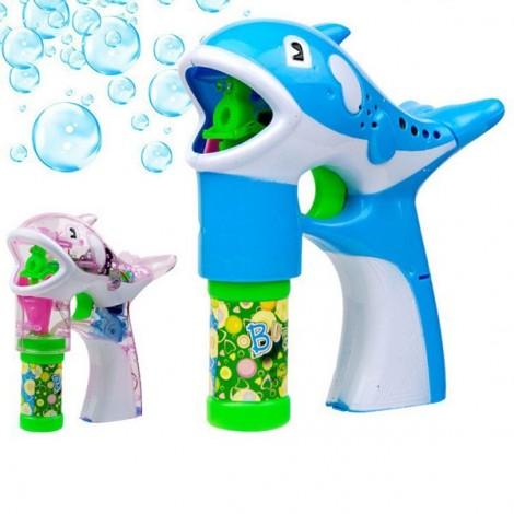 Children's Blowing Bubbles Toy Cartoon Style Dolphin Shape Automatic Soap Bubble Gun Random Color