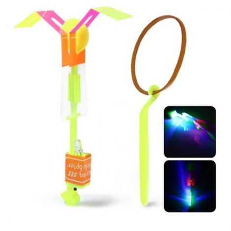 Arrow Helicopter Faery Flying Toy with LED for Children Outdoor Entertainment Yellow